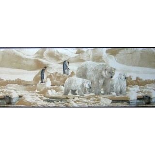9 in x 15 ft Prepasted Wallpaper Borders - Animals Wall Paper Border B2191nf