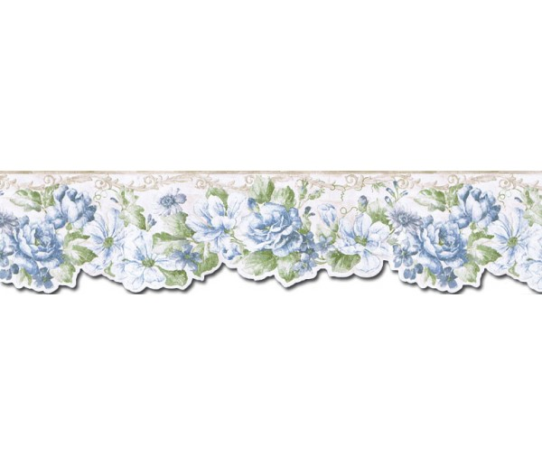 Prepasted Wallpaper Borders - Floral Wall Paper Border FF22010DB