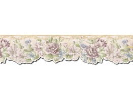 Prepasted Wallpaper Borders - Floral Wall Paper Border FF22011DB