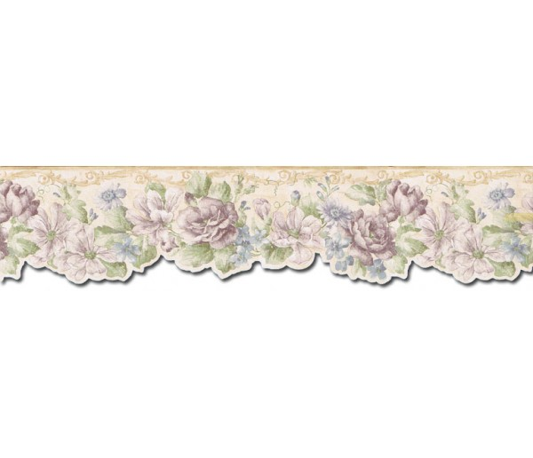 Clearance: Floral Wallpaper Border FF22011DB