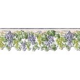Garden Wallpaper Borders: Grape Fruits Wallpaper Border FF22018DB