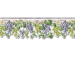 Prepasted Wallpaper Borders - Grape Fruits Wall Paper Border FF22018DB