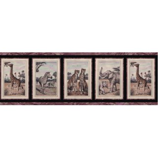 10 1/4 in x 15 ft Prepasted Wallpaper Borders - Animals Wall Paper Border B2214bc