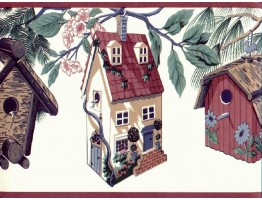 Birds House Wallpaper Border B2232TL