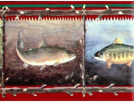 Prepasted Wallpaper Borders - Fish Wall Paper Borders GR2263B