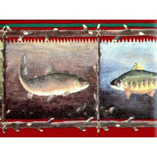 6 7/8 in x 15 ft Prepasted Wallpaper Borders - Fish Wall Paper Borders GR2263B