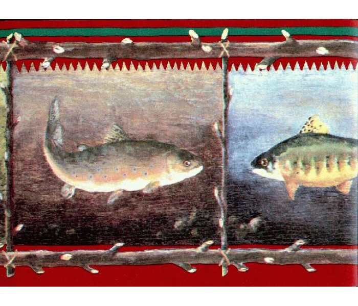 Clearance: Fish Wallpaper Borders GR2263B