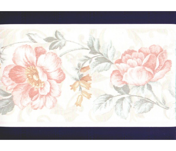 Clearance: Floral Wallpaper Border b22931