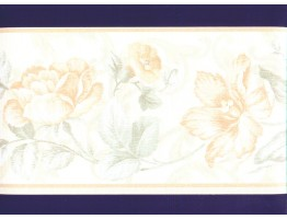 Prepasted Wallpaper Borders - Floral Wall Paper Border b22997