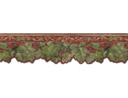 Prepasted Wallpaper Borders - Leafs Wall Paper Border  TV23024DB