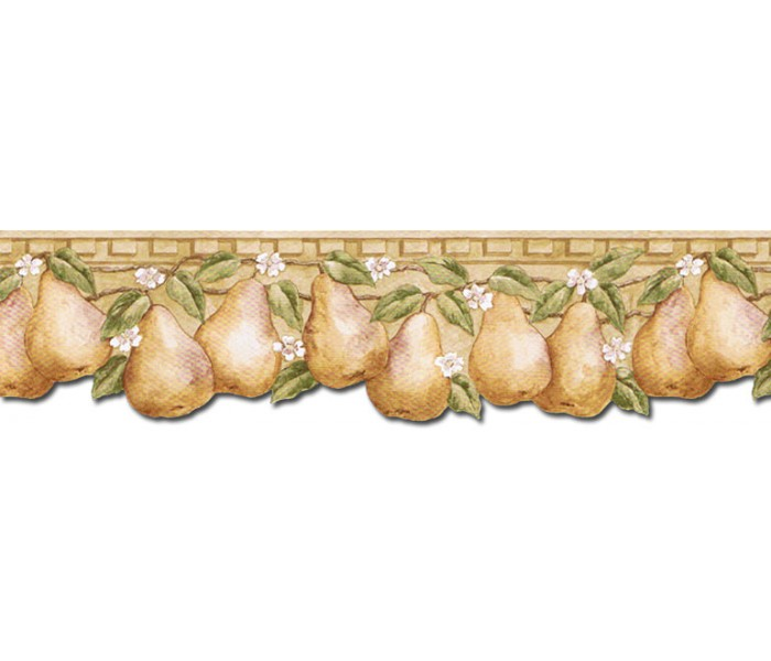 Clearance: Pear Fruits Wallpaper Border PT24002B