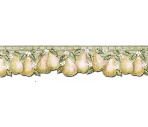Clearance: Pear Fruits Wallpaper Border PT24004B
