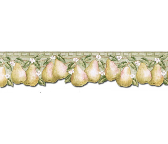 Clearance: Pear Fruits Wallpaper Border PT24004B