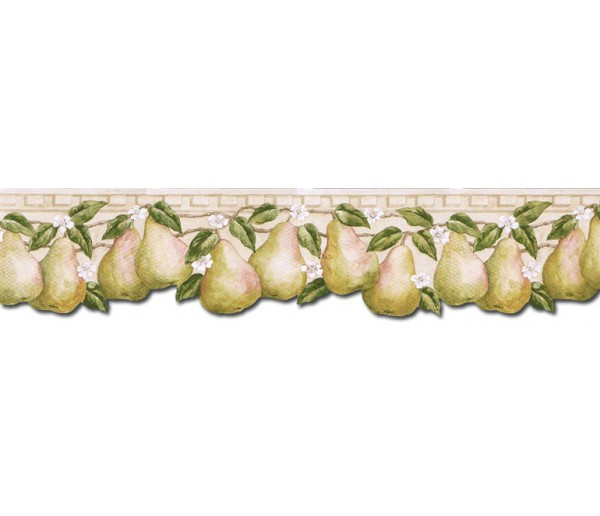 Clearance: Pear Fruits Wallpaper Border PT24005B
