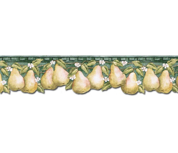 Clearance: Pear Fruits Wallpaper Border PT24006B