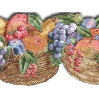 5 3/8 in x 15 ft Prepasted Wallpaper Borders - Fruits Wall Paper Border PT24010B