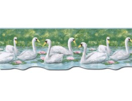 Prepasted Wallpaper Borders - Birds Wall Paper Border PT24019B