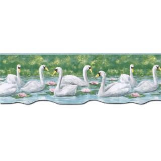 9 1/8 in x 15 ft Prepasted Wallpaper Borders - Birds Wall Paper Border PT24019B