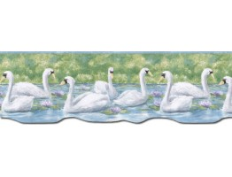 9 1/8 in x 15 ft Prepasted Wallpaper Borders - Birds Wall Paper Border PT24020B