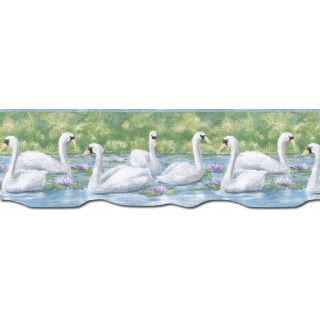 9 1/8 in x 15 ft Prepasted Wallpaper Borders - Birds Wall Paper Border PT24020B