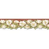 Clearance: Floral Wallpaper Border PT24022B