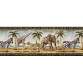 Jungle Wallpaper Borders: Animals Wallpaper Border B24027