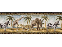 9 in x 15 ft Prepasted Wallpaper Borders - Animals Wall Paper Border B24027