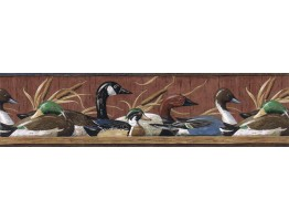 6 7/8 in x 15 ft Prepasted Wallpaper Borders - Ducks Wall Paper Border MRL2418