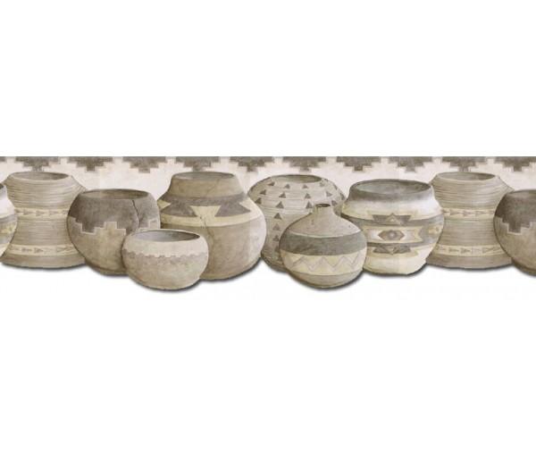 Kitchen Wallpaper Borders: Pots Wallpaper Border B25001