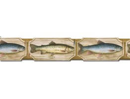 4 7/8 in x 15 ft Prepasted Wallpaper Borders - Fish Wall Paper Border B25005