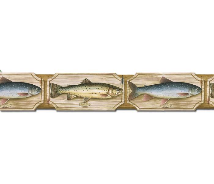 Clearance: Fish Wallpaper Border B25005
