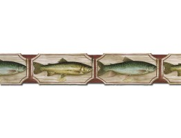 Fish Wallpaper Border B25006