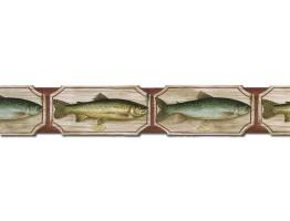 Prepasted Wallpaper Borders - Fish Wall Paper Border B25006