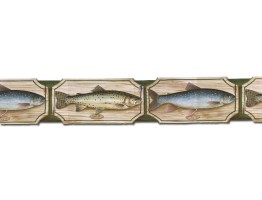 Prepasted Wallpaper Borders - Fish Wall Paper Border B25007