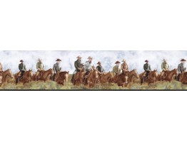 6 7/8 in x 15 ft Prepasted Wallpaper Borders - Horses Wall Paper Border B25015