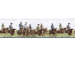 Prepasted Wallpaper Borders - Horses Wall Paper Border B25016