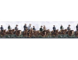 6 7/8 in x 15 ft Prepasted Wallpaper Borders - Horses Wall Paper Border B25017