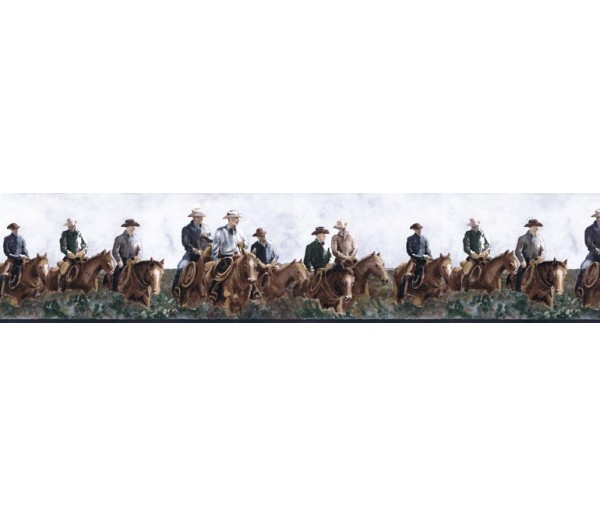 Clearance: Horses Wallpaper Border B25017