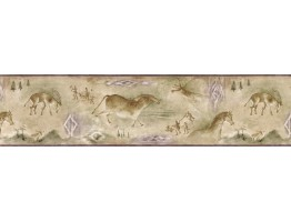 6 7/8 in x 15 ft Prepasted Wallpaper Borders - Animals Wall Paper Border B25018