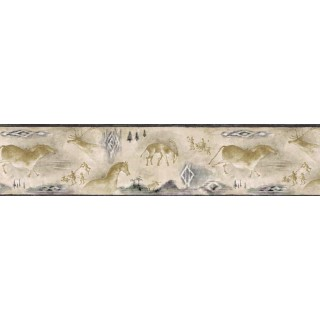 6 7/8 in x 15 ft Prepasted Wallpaper Borders - Animals Wall Paper Border B25019