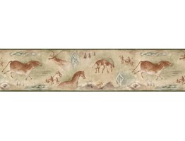6 7/8 in x 15 ft Prepasted Wallpaper Borders - Animals Wall Paper Border B25020