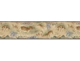 6 7/8 in x 15 ft Prepasted Wallpaper Borders - Animals Wall Paper Border B25021