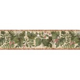 Floral Borders Leafs Wallpaper Border SD25022B Chesapeake Wallcoverings