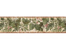 Prepasted Wallpaper Borders - Leafs Wall Paper Border SD25022B