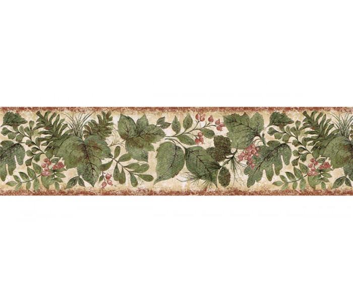 Floral Wallpaper Borders: Leafs Wallpaper Border SD25022B