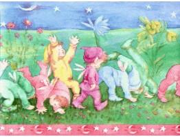 Prepasted Wallpaper Borders - Kids Wall Paper Border B2536