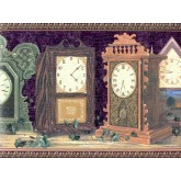 Contemporary Wall Borders: Clocks Wallpaper Border B267218