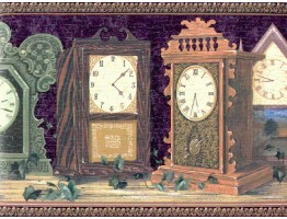 9 in x 15 ft Prepasted Wallpaper Borders - Clocks Wall Paper Border B267218