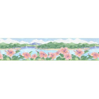 6 7/8 in x 15 ft Prepasted Wallpaper Borders - Country Wall Paper Border B27189