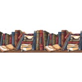Prepasted Wallpaper Borders - Books Wall Paper Border GS273B
